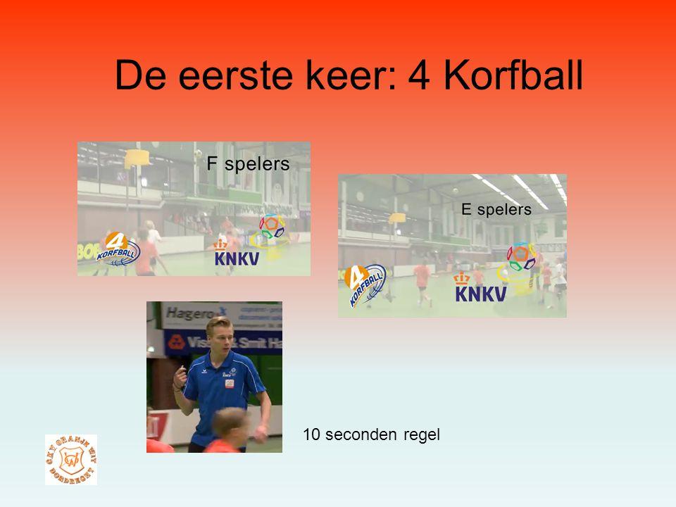 De eerste keer: 4 Korfball 10 seconden regel