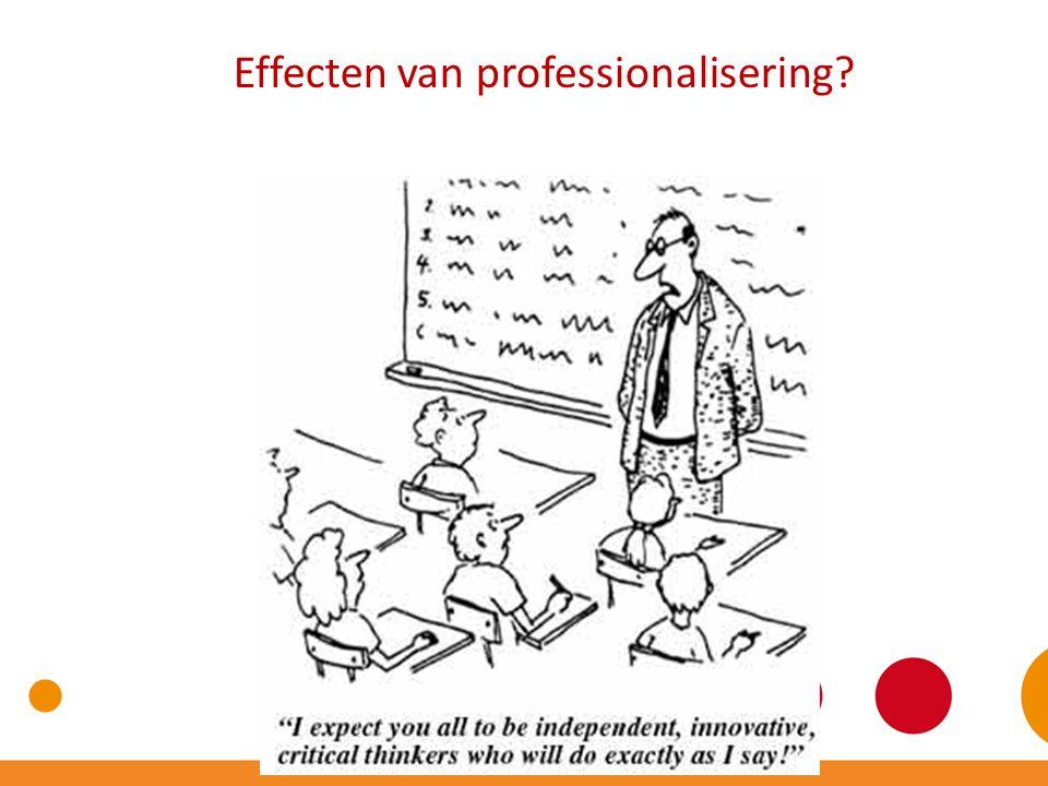 Effecten van professionalisering?