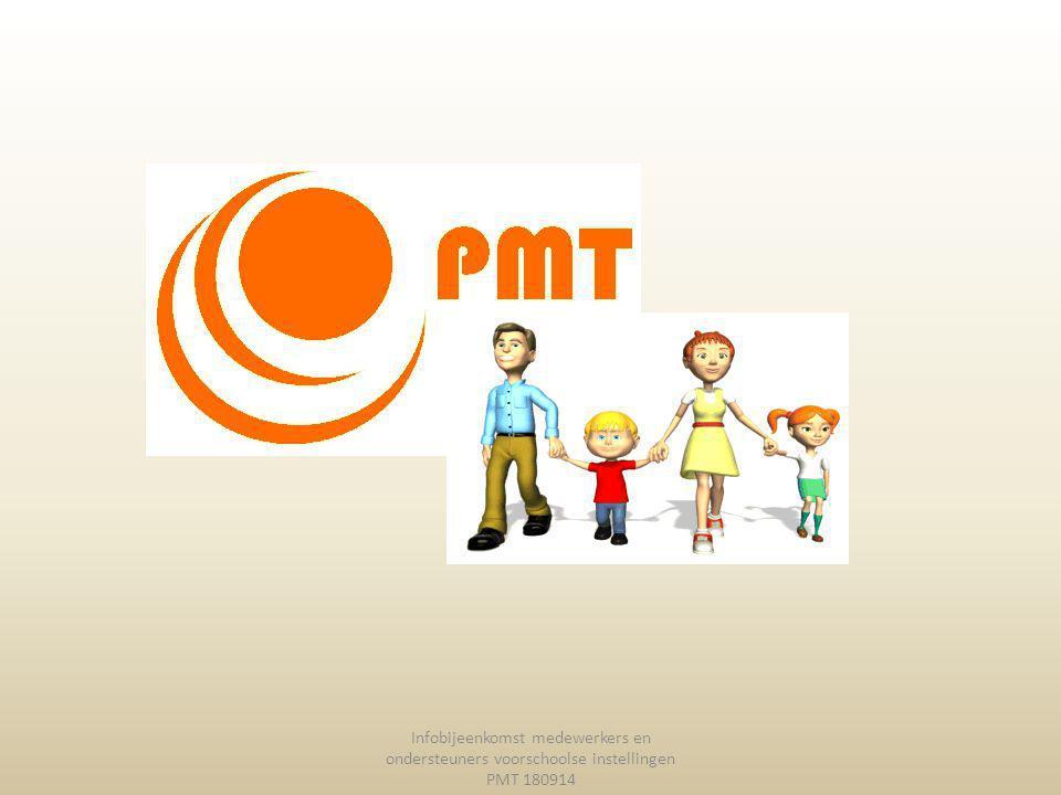 Infobijeenkomst medewerkers en ondersteuners voorschoolse instellingen PMT 180914