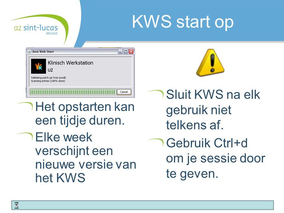 Toegang tot het KWS voor 1 dag Kies Algemeen  Speciale toegang  toegang voor 1 dag Vul de eenheid waar gaat werken in.