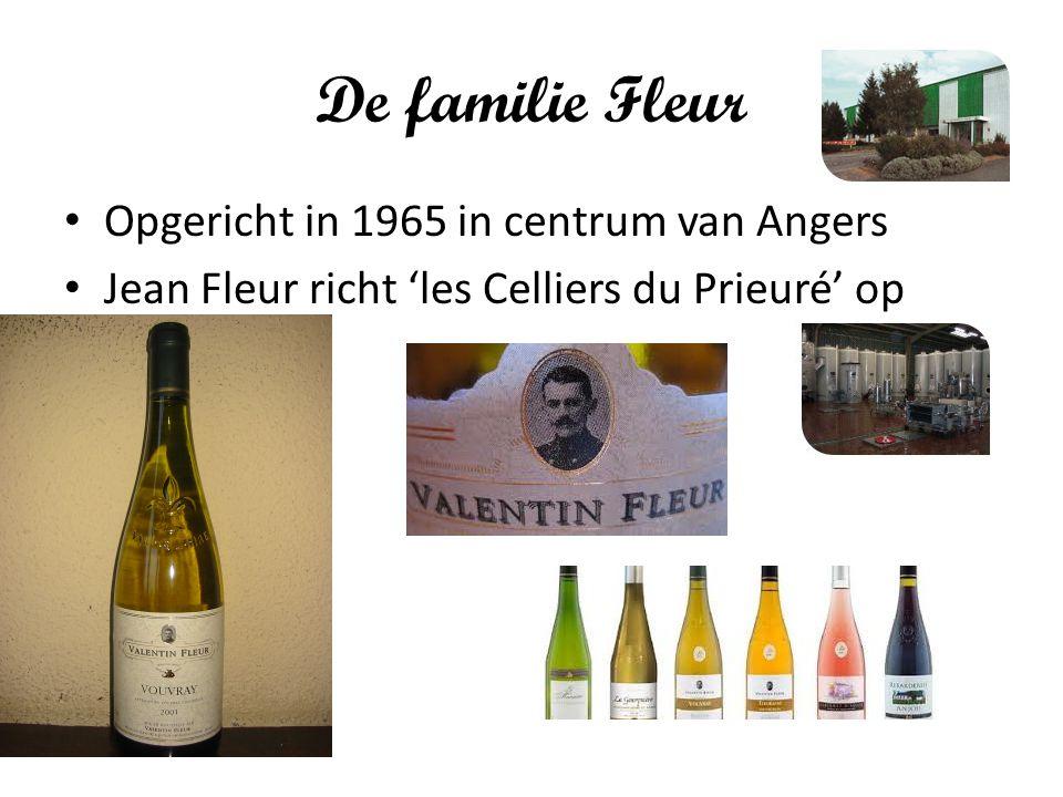 De familie Fleur Opgericht in 1965 in centrum van Angers Jean Fleur richt 'les Celliers du Prieuré' op