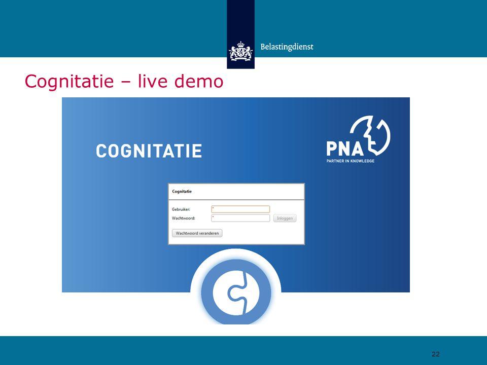 Cognitatie – live demo 22