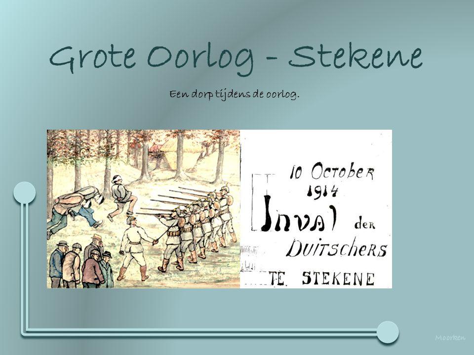 Deze presentatie werd gemaakt aan de hand van originele foto's, Gebruik er van kan worden gevraagd op het adres dullaert@skynet,be Grote Oorlog - Stekene Een dorp tijdens de oorlog.