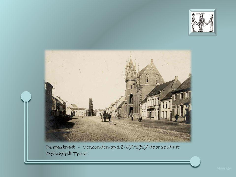 Dorpsstraat - Verzonden op 18/07/1917 door soldaat Reinhardt Trust