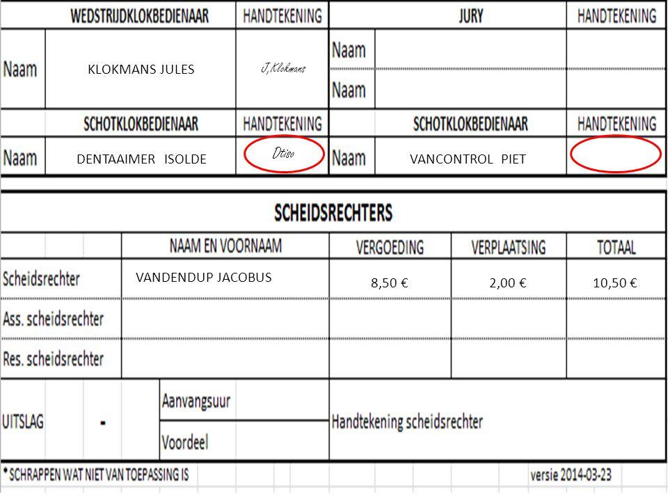 KLOKMANS JULES J,Klokmans VANDENDUP JACOBUS 8,50 €2,00 €10,50 € DENTAAIMER ISOLDE Dtiso VANCONTROL PIET