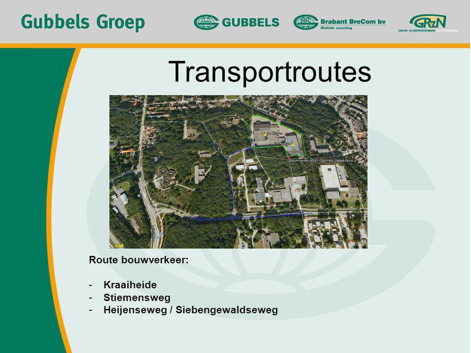 Route bouwverkeer: -Kraaiheide -Stiemensweg -Heijenseweg / Siebengewaldseweg Transportroutes