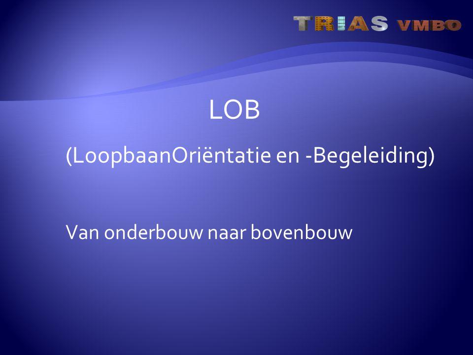 LOB (LoopbaanOriëntatie en -Begeleiding) Van onderbouw naar bovenbouw