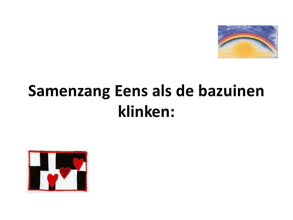 Samenzang Eens als de bazuinen klinken: