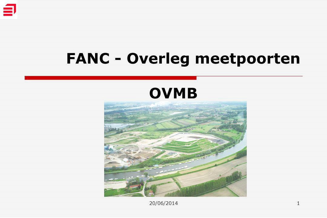 20/06/20141 FANC - Overleg meetpoorten OVMB