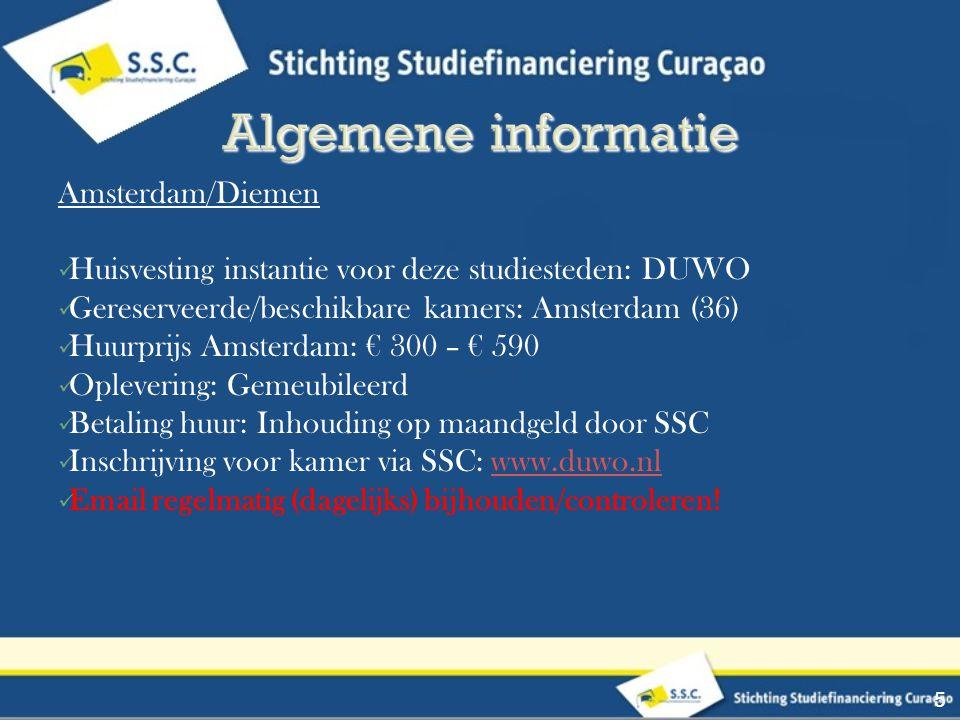 Amsterdam/Diemen Huisvesting instantie voor deze studiesteden: DUWO Gereserveerde/beschikbare kamers: Amsterdam (36) Huurprijs Amsterdam: € 300 – € 59