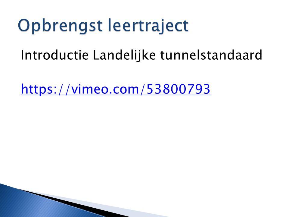 Introductie Landelijke tunnelstandaard https://vimeo.com/53800793