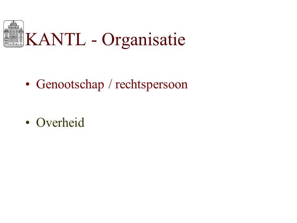 KANTL - Organisatie Genootschap / rechtspersoon Overheid