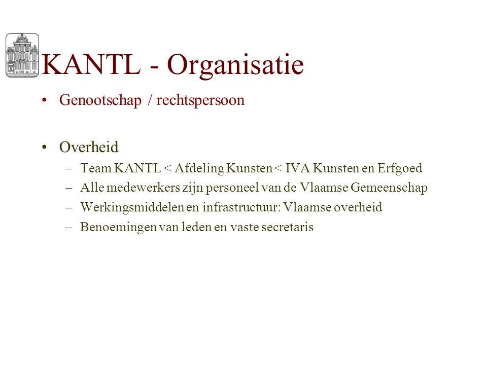 KANTL - Organisatie Genootschap / rechtspersoon Overheid –Team KANTL < Afdeling Kunsten < IVA Kunsten en Erfgoed –Alle medewerkers zijn personeel van