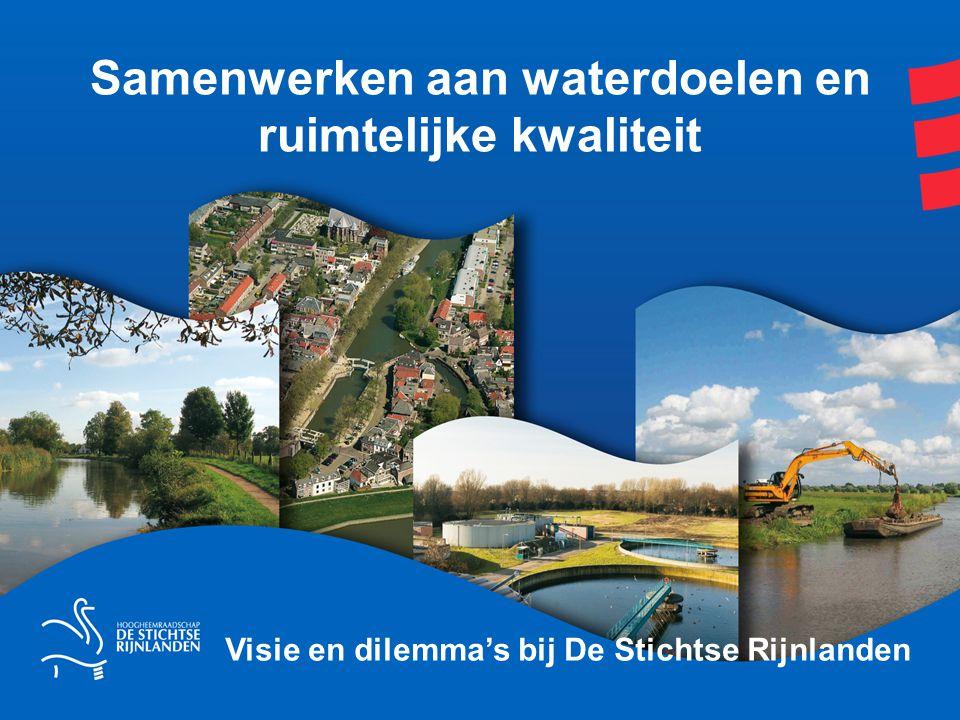 Samenwerken aan waterdoelen en ruimtelijke kwaliteit Visie en dilemma's bij De Stichtse Rijnlanden
