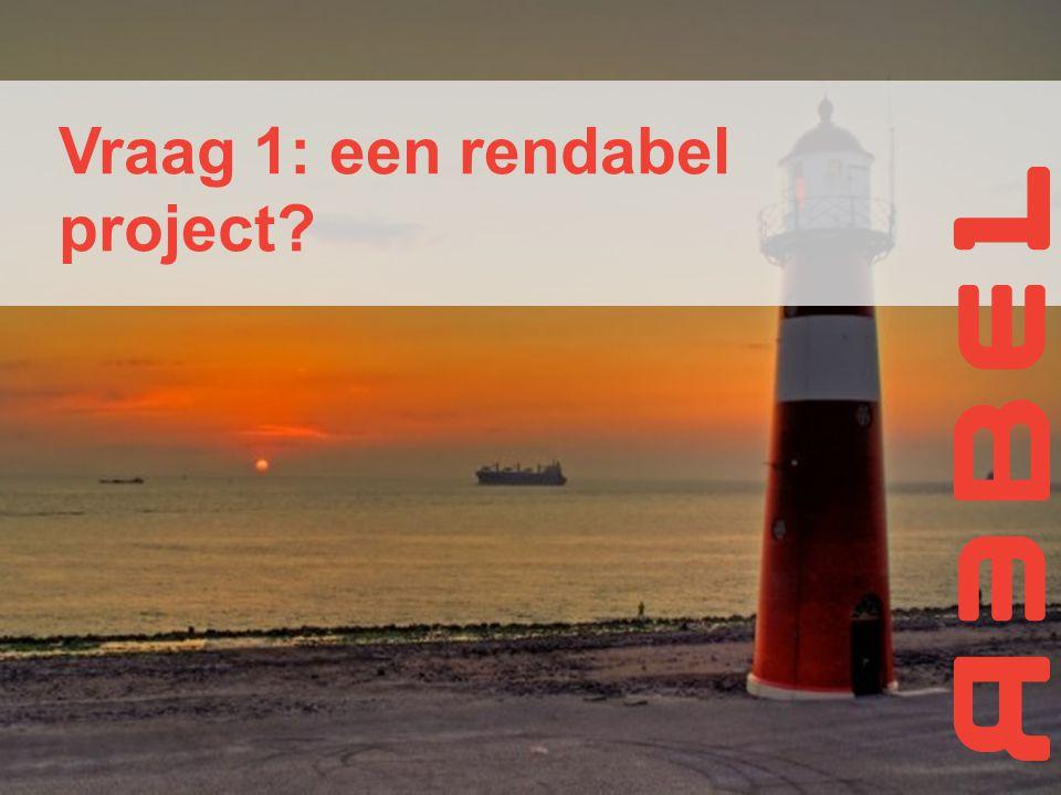 Vraag 1: een rendabel project?