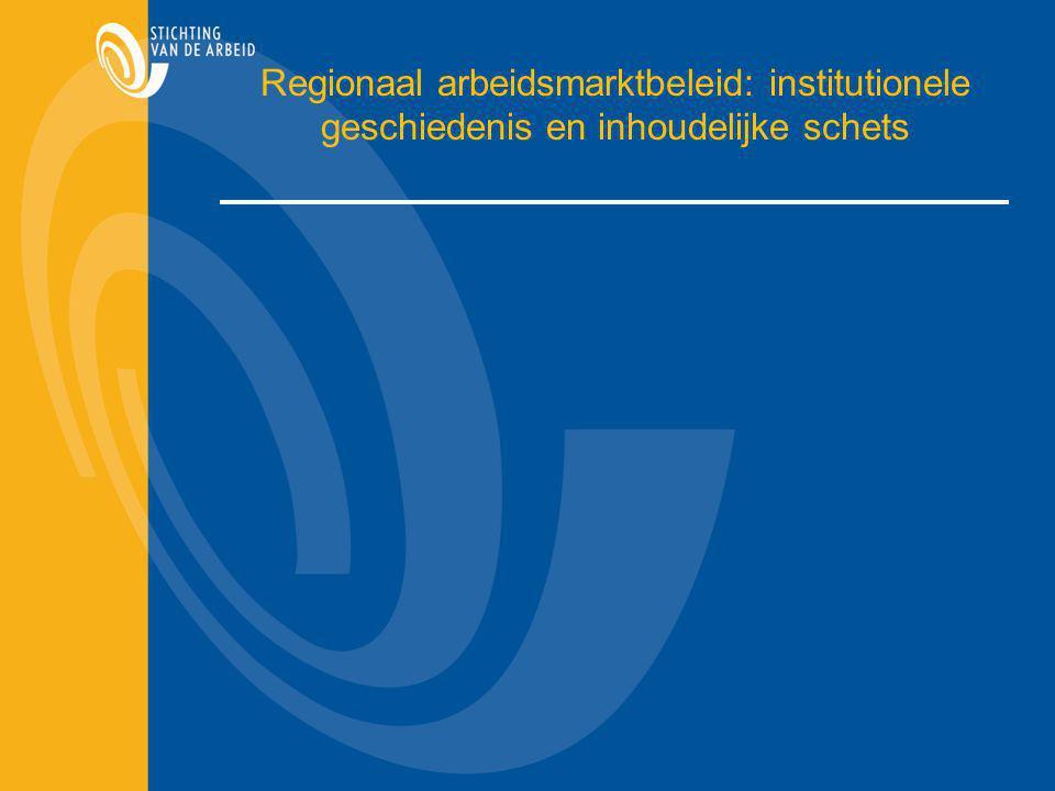 Regionaal arbeidsmarktbeleid: institutionele geschiedenis en inhoudelijke schets
