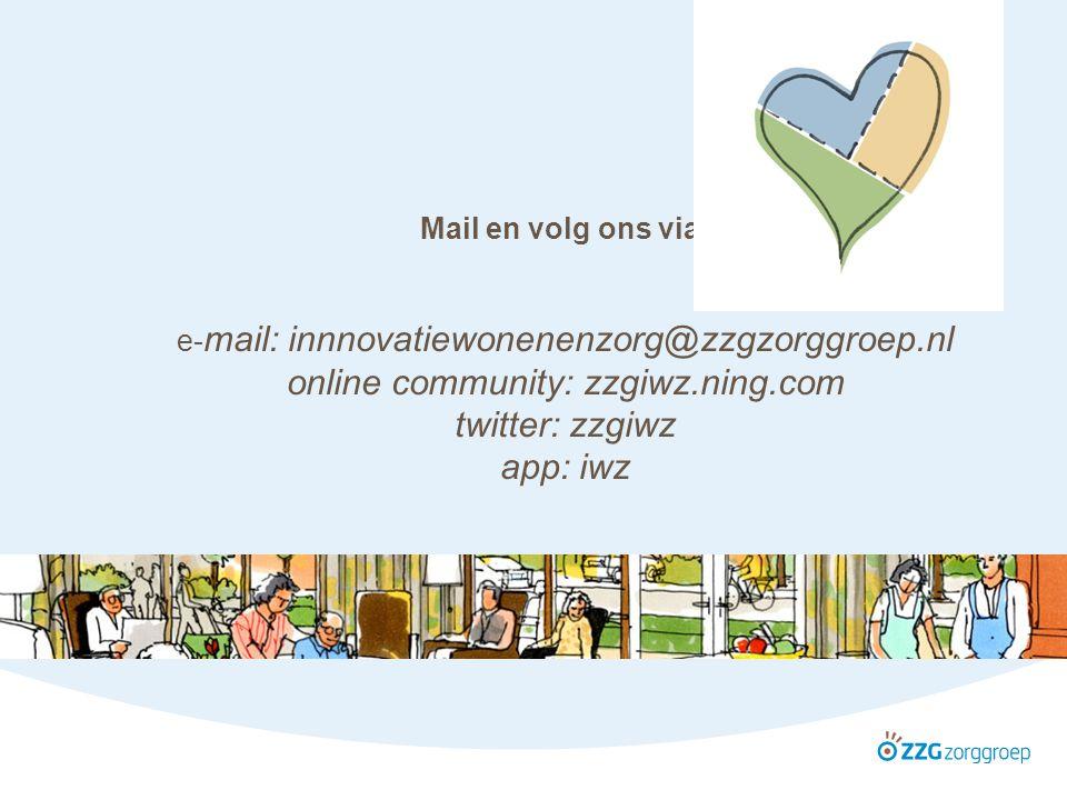 Hans Vos De architect 13 oktober 2010 Mail en volg ons via: e- mail: innnovatiewonenenzorg@zzgzorggroep.nl online community: zzgiwz.ning.com twitter: zzgiwz app: iwz