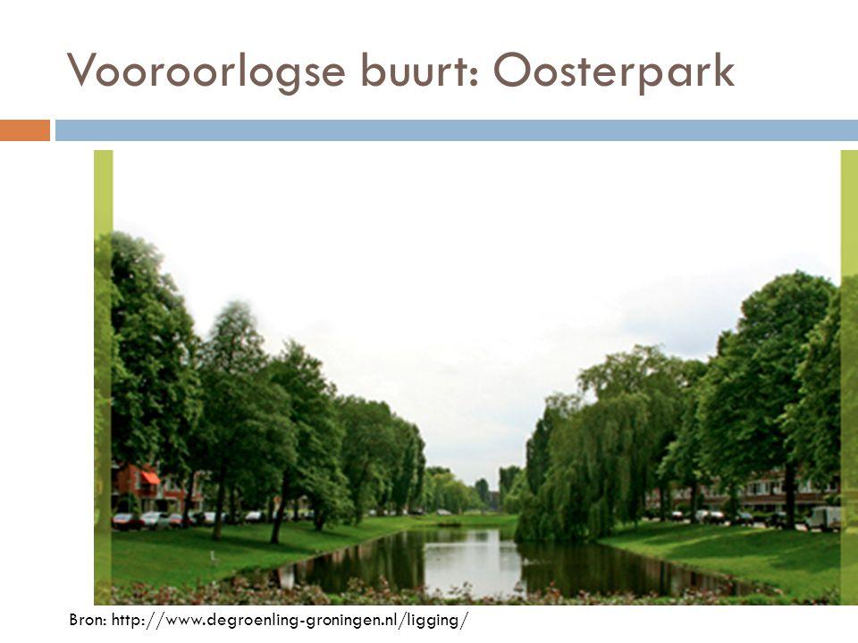 Vooroorlogse buurt: Oosterpark Bron: http://www.degroenling-groningen.nl/ligging/