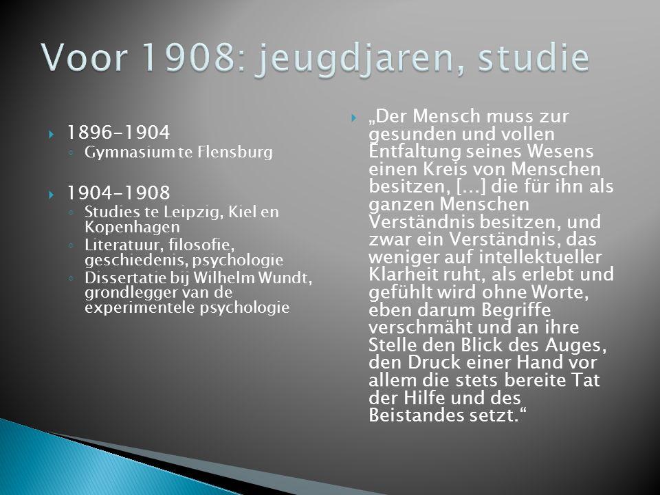  1908: Leraar Johanneumgymnasium (Hamburg)  1912: Schulreformbewegung (Hamburg)  1920: Directeur Lichtwarkschule (Hamburg) ◦ Vakkenintegratie en thematisch onderwijs ◦ Differentiatie ◦ School als leef- en werkgemeenschap ◦ Ouderparticipatie  1921: Doctoraat  1922: Ontmoeting met Freinet (Hamburg)