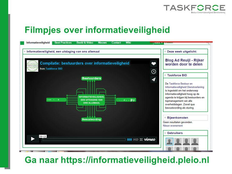 Filmpjes over informatieveiligheid Ga naar https://informatieveiligheid.pleio.nl