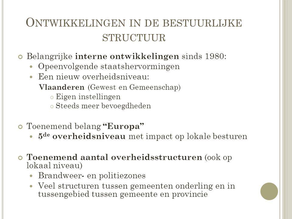 R EALISATIES 2009-2014 D E R EGIOSCREENING Stap 1: De inventarisatiefase Complex intermediair niveau Grote variëteit in zowel vraag als aanbod van samenwerkingsverbanden Sterke stijging samenwerkingsverbanden sinds 2000