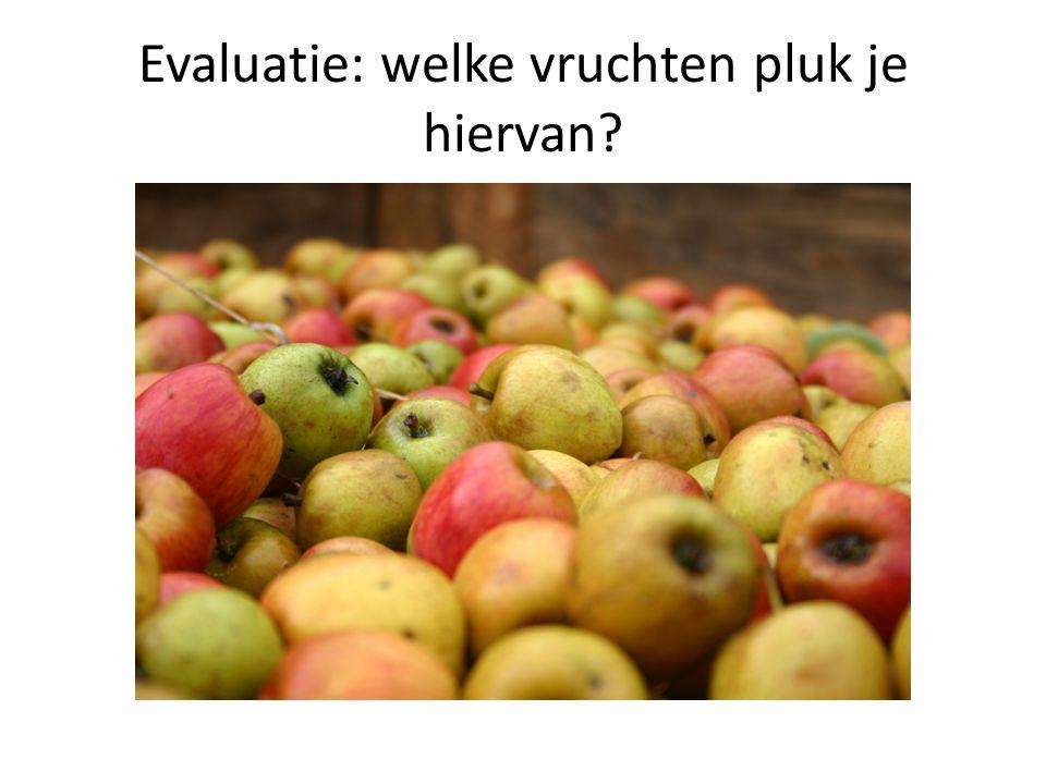 Evaluatie: welke vruchten pluk je hiervan?