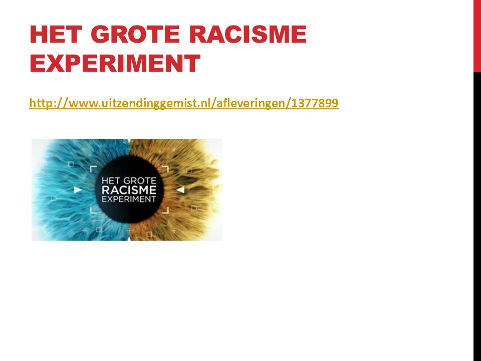 HET GROTE RACISME EXPERIMENT http://www.uitzendinggemist.nl/afleveringen/1377899