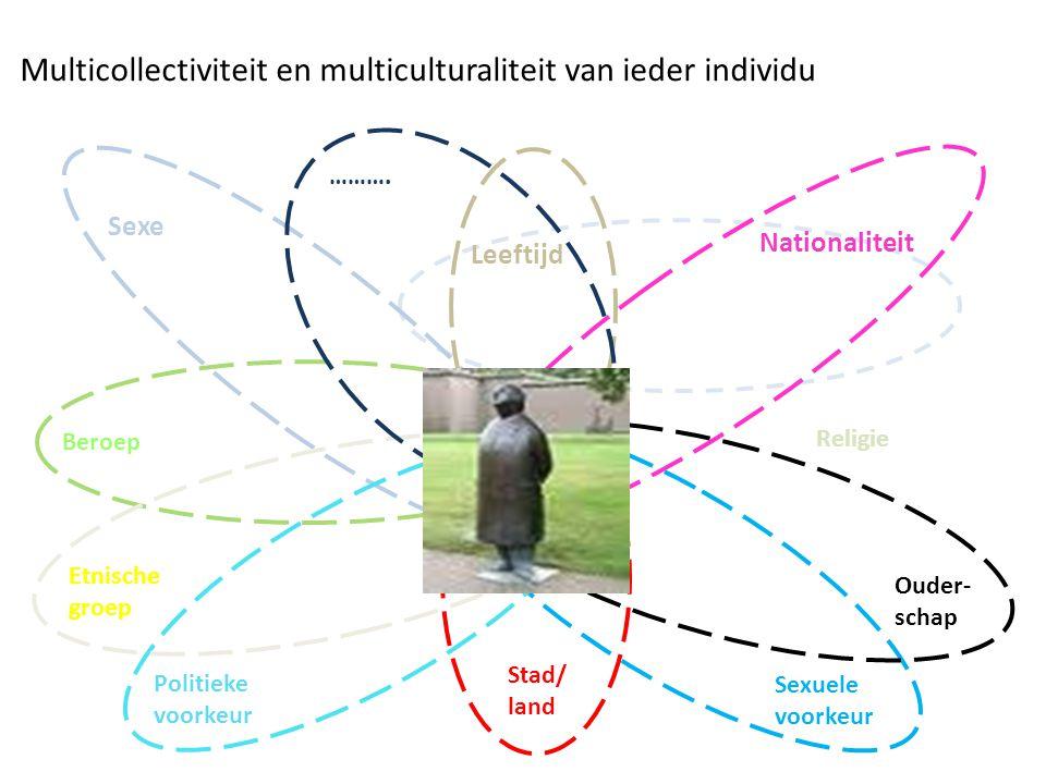 Stad/ land Beroep Religie Multicollectiviteit en multiculturaliteit van ieder individu Leeftijd Sexe Nationaliteit Sexuele voorkeur Politieke voorkeur Etnische groep Ouder- schap ……….