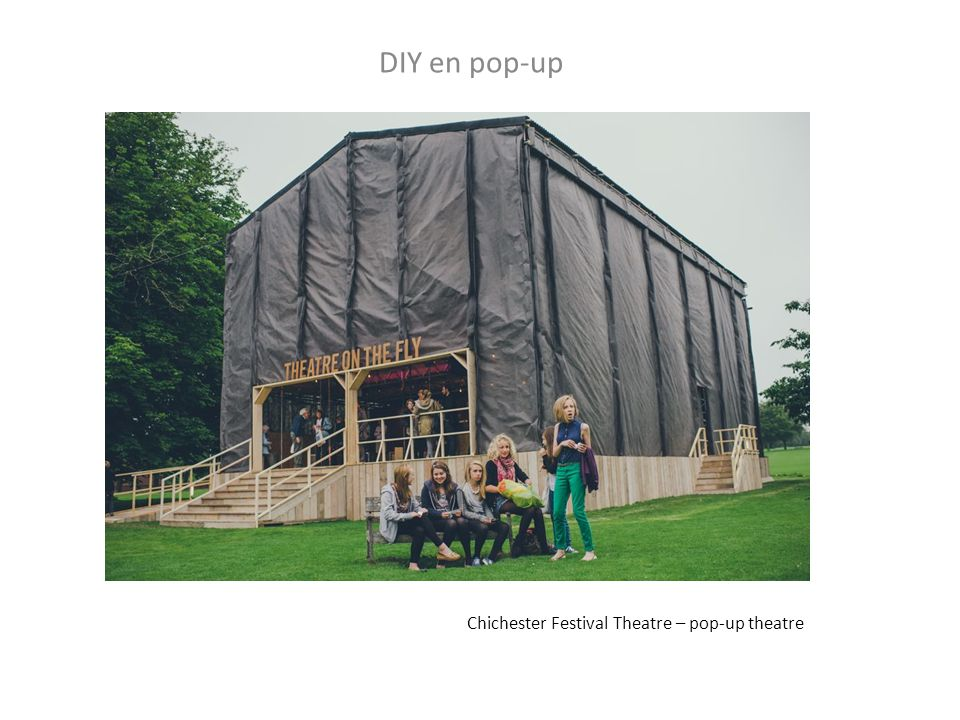 DIY en pop-up Chichester Festival Theatre – pop-up theatre