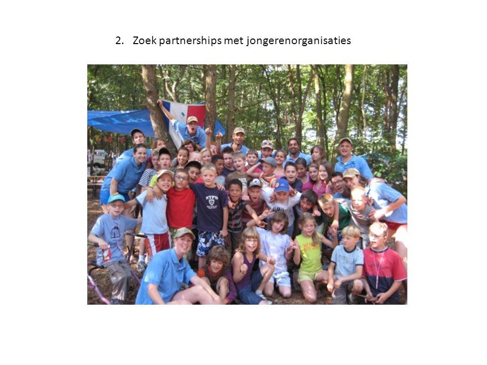2. Zoek partnerships met jongerenorganisaties