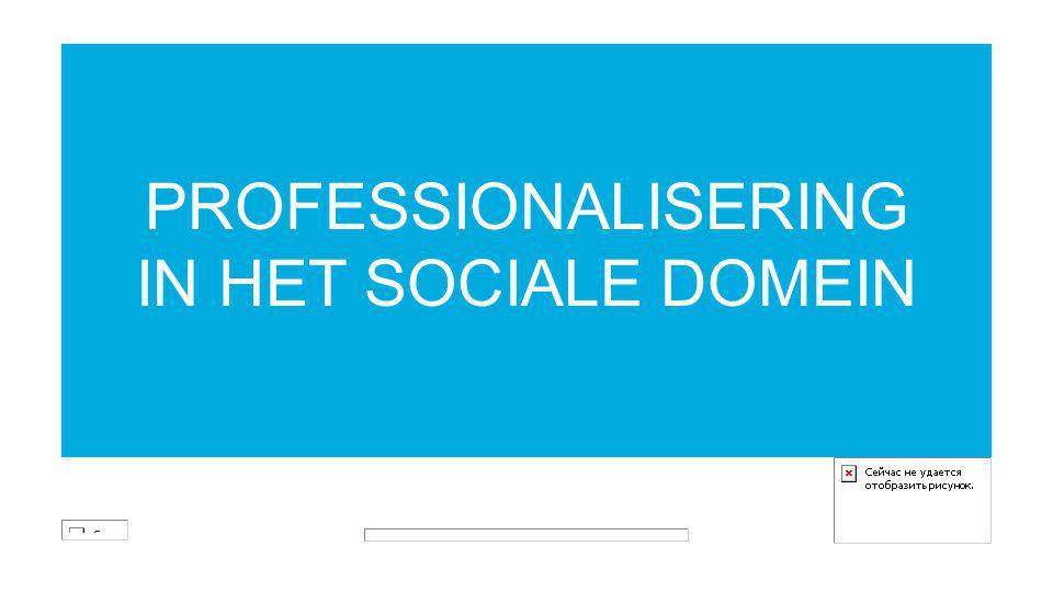 PROFESSIONALISERING IN HET SOCIALE DOMEIN