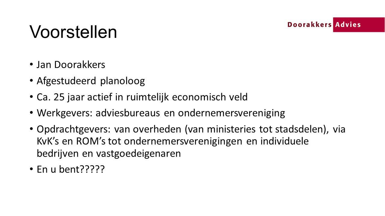 Voorstellen Jan Doorakkers Afgestudeerd planoloog Ca.
