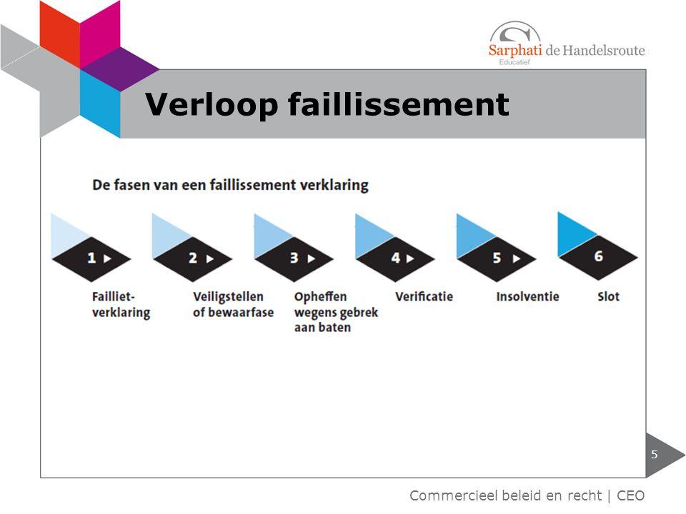 5 Commercieel beleid en recht | CEO Verloop faillissement