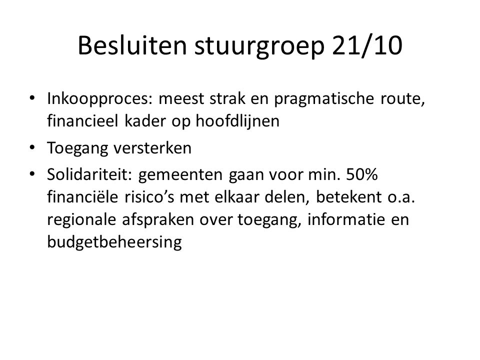 Financieel kader Gouda 22.954.09842% K510.715.82020% Zuidplas 8.290.19615% Bodegraven-Reeuwijk 6.557.88212% Waddinxveen 5.757.38111% Totaal54.275.317 100%