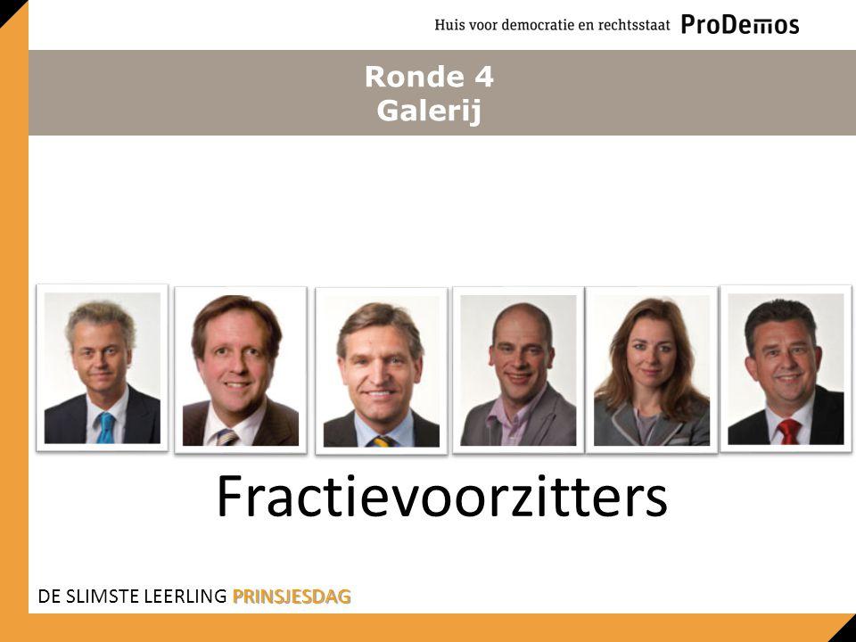 Ronde 4 Galerij Fractievoorzitters PRINSJESDAG DE SLIMSTE LEERLING PRINSJESDAG
