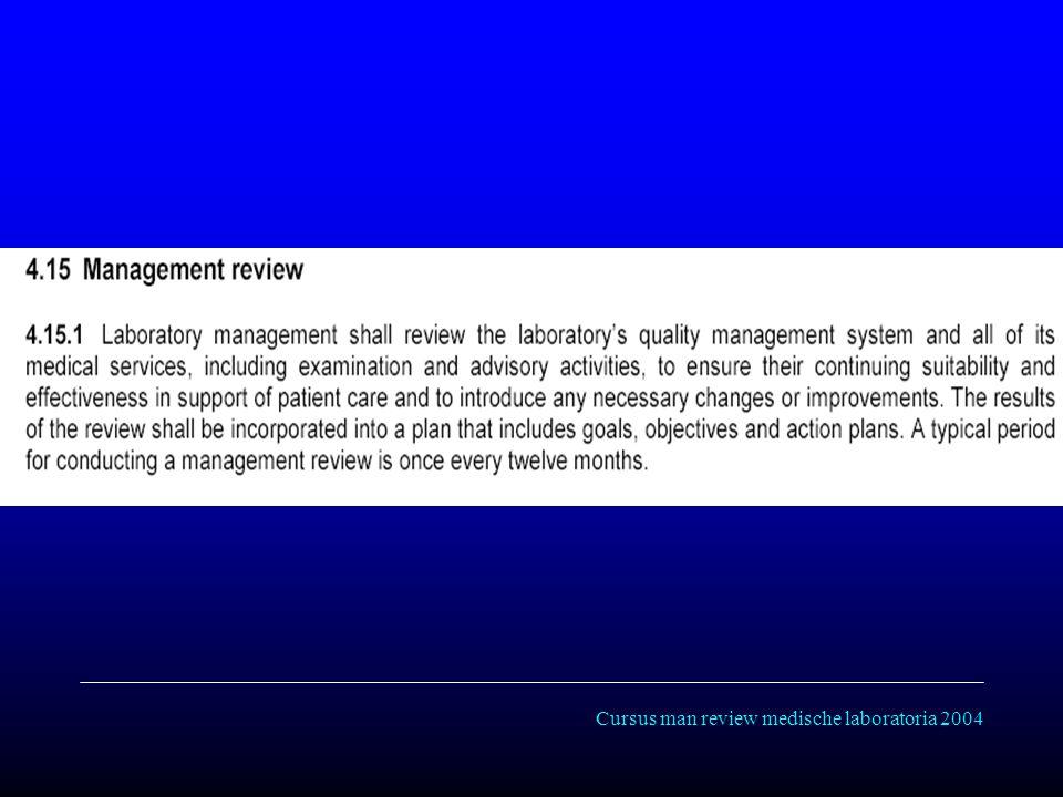 Cursus man review medische laboratoria 2004