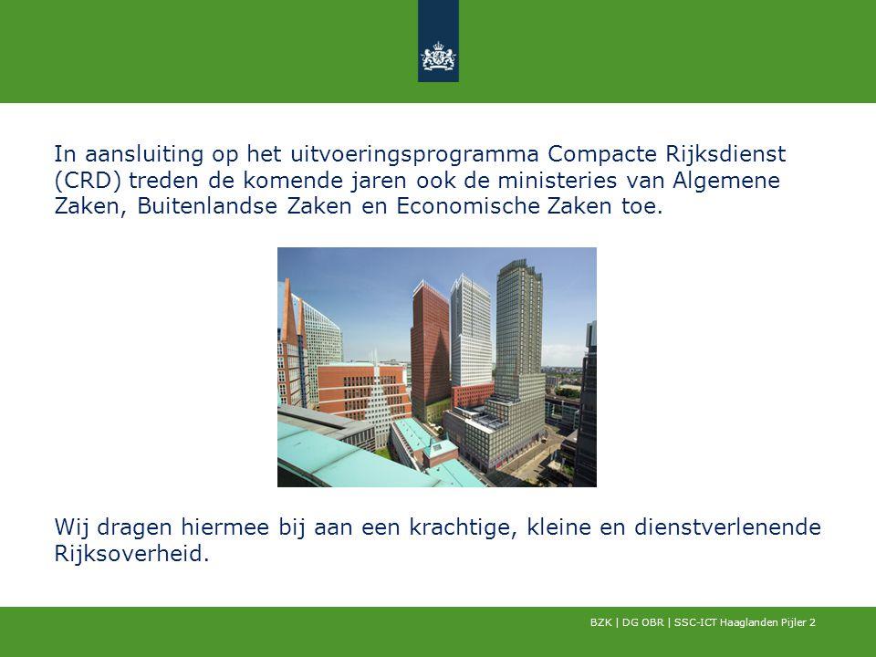 In aansluiting op het uitvoeringsprogramma Compacte Rijksdienst (CRD) treden de komende jaren ook de ministeries van Algemene Zaken, Buitenlandse Zake