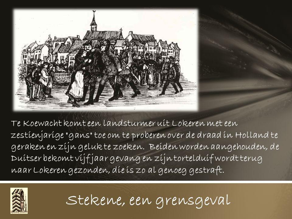 Stekene, een grensgeval 7 September 1915 wordt aan elke grondbezitter en arbeider verboden van op Zon- en feestdagen hun landerijen die in de grensstrook gelegen zijn te betreden.