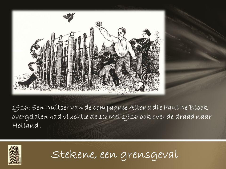 Stekene, een grensgeval Te Koewacht komt een landsturmer uit Lokeren met een zestienjarige gans toe om te proberen over de draad in Holland te geraken en zijn geluk te zoeken.