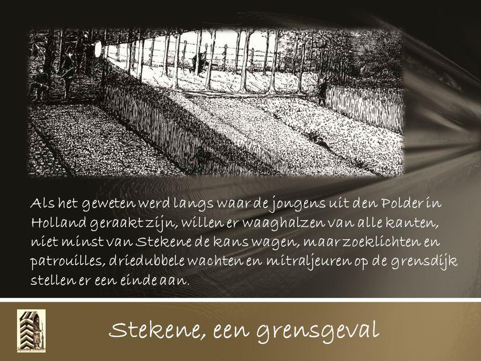 1916. In d' Hellestraat bleef de zware trekhond van Wed. Eugeen Teirbroodt aan de draad doodgebliksemd liggen, dat was een buitenkansje voor de Duitse