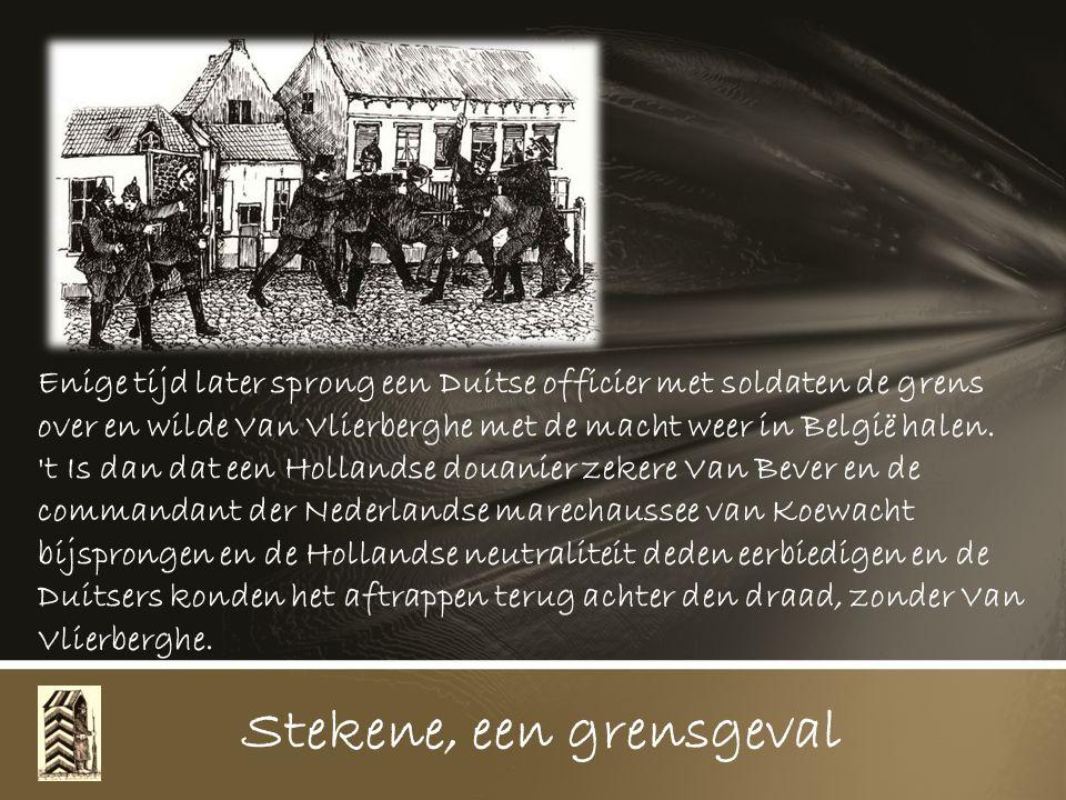 Alfons Van Vlierberghe, zoon van Jan, wijk Driehoek, moest te Koewacht beten over gaan laden, die op hun pachtland in Holland gegroeid waren. Stekene,