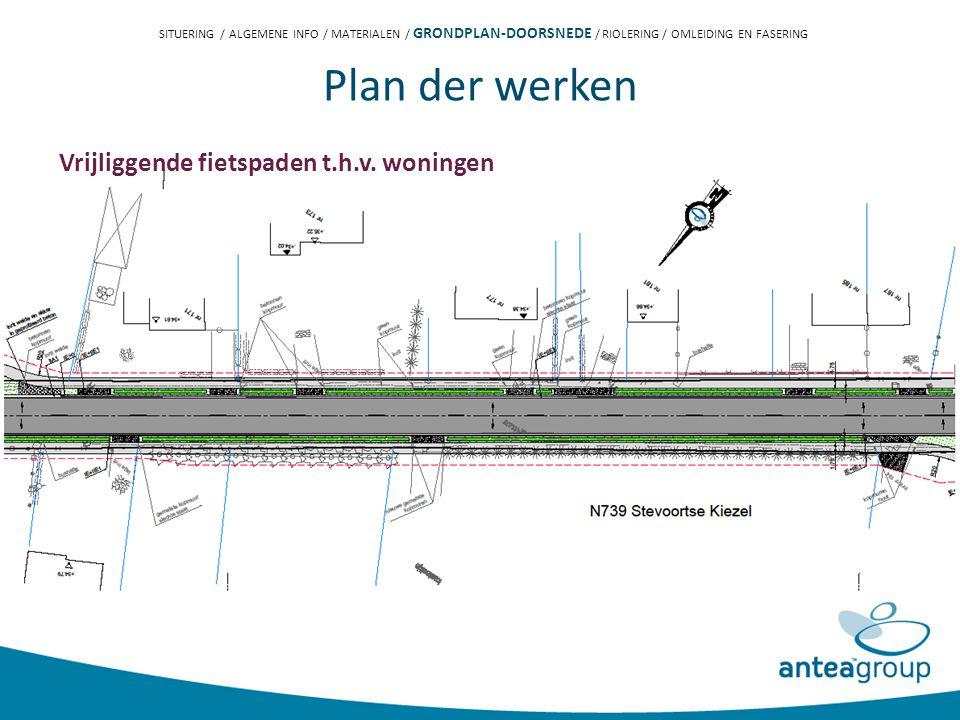 Plan der werken Vrijliggende fietspaden t.h.v.