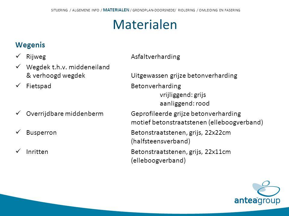 Materialen Wegenis Rijweg Asfaltverharding Wegdek t.h.v.