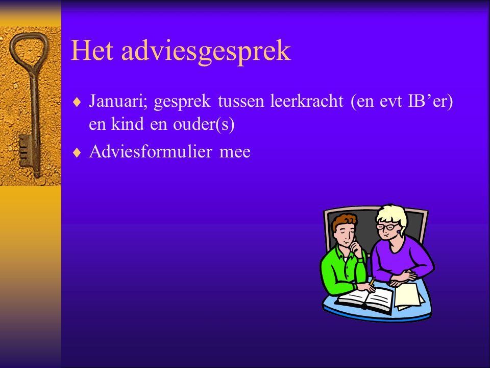 Het advies: de rol van het V.O. Advies is goed onderbouwd en staat vast, maar blijft advies.