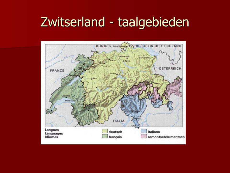 Zwitserland - taalgebieden