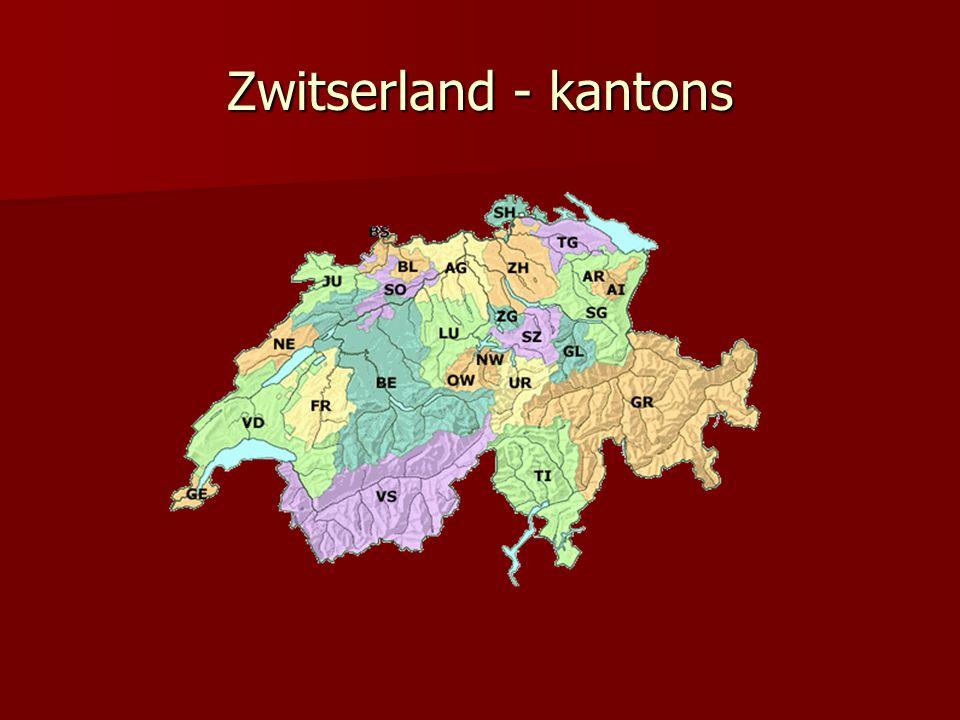 Zwitserland - kantons
