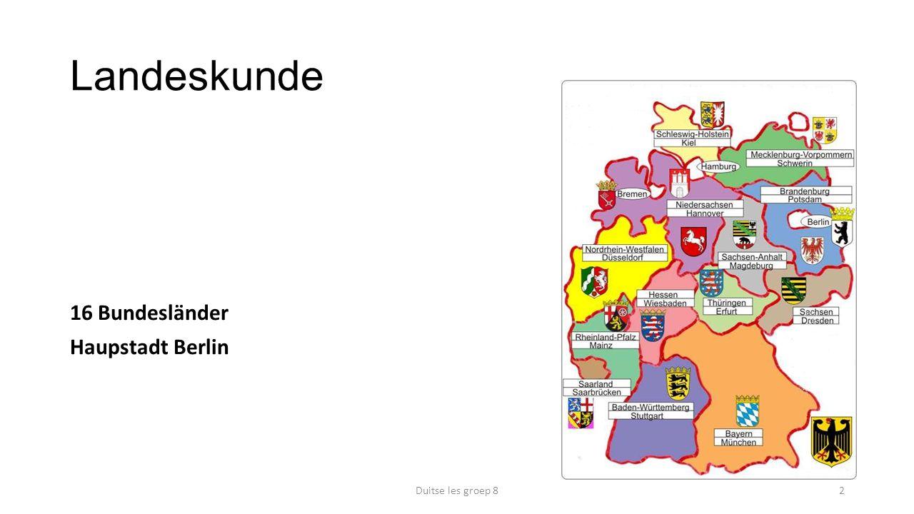 Landeskunde 16 Bundesländer Haupstadt Berlin Duitse les groep 82