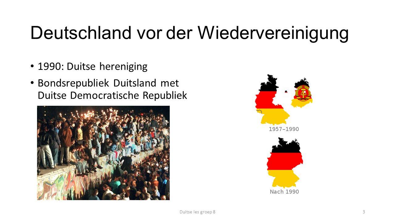 Deutschland vor der Wiedervereinigung Duitse les groep 83 1990: Duitse hereniging Bondsrepubliek Duitsland met Duitse Democratische Republiek