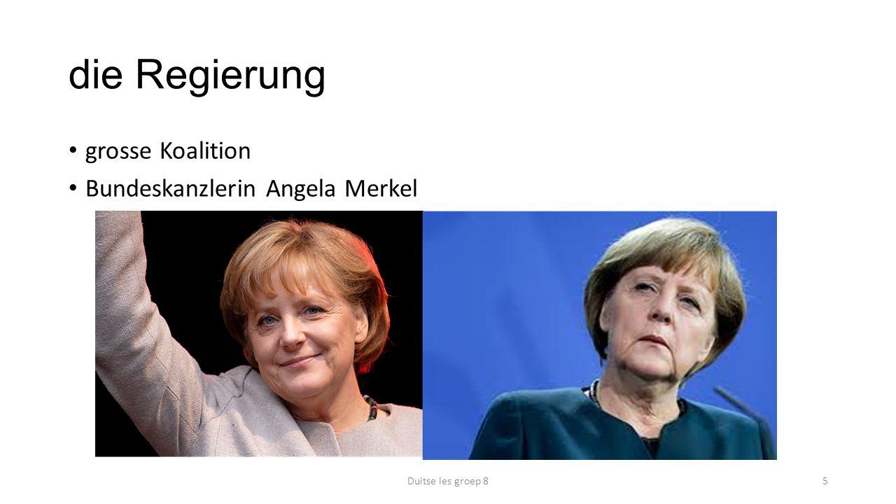 die Regierung grosse Koalition Bundeskanzlerin Angela Merkel Duitse les groep 85