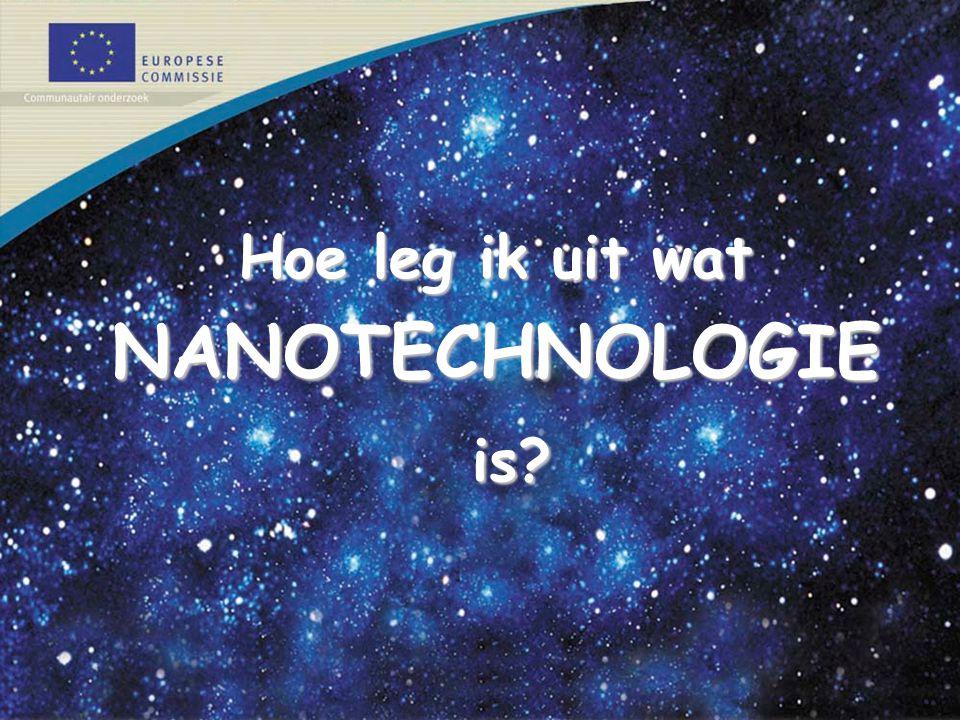 Hoe leg ik uit wat NANOTECHNOLOGIE is?